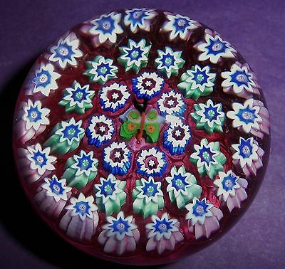 """PERTHSHIRE SCOTLAND """"CONCENTRIC BUTTERFLY MILLEFIORI"""" Paperweight"""