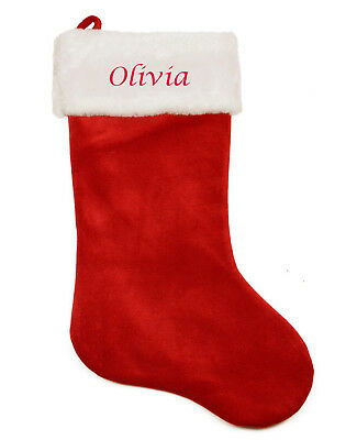 Personalised Embroidered Fleece Super Jumbo Christmas Stocking with name
