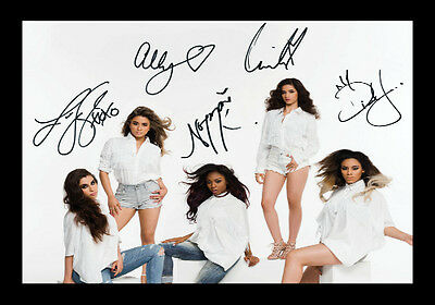 Fifth Harmony Signed Autograph A4 Framed Xmas Gift Present READ DESCRIPTION
