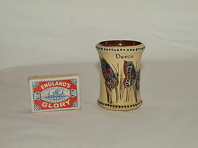 SMALL BARNSTABLE MOTTO POT DECORATED WITH BUTTERFLIES ; G Jones ; Scores Pottery
