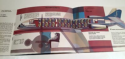 Sabena Caravelle Brochure With Cutaway Belgian World Airlines