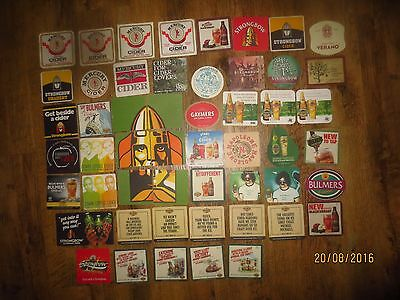 52 Different ,AUSTRALIAN & IMPORTED CIDER,Issue collectable COASTERS