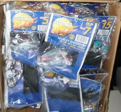 Maisto Mega Bikes Die-Cast Model Motorcycles Collection Of 62 All New & Sealed.