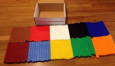 Unifix Lot Of 1000 Cubes