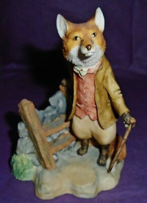 "Border Fine Arts Beatrix Potter RARE LARGE SIZE ""FOXY WHISKERED GENTLEMAN"" BP19"
