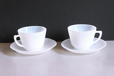 Vintage Macbeth Evans Petalware Monax two cups and two saucers. Exc. Cond.