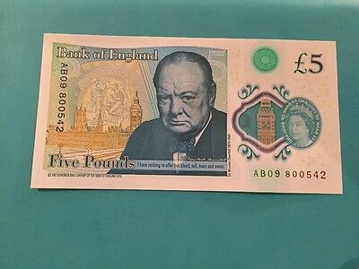 £5 note AB09