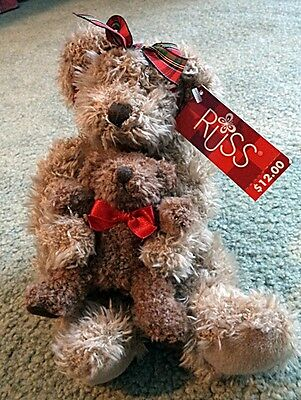 "7"" Russ Marmie Bear holding her Baby"