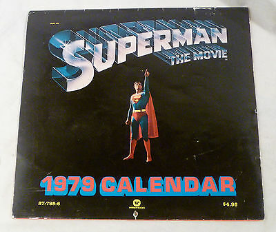 Rare 1979 SUPERMAN The Movie Calendar DC Comics USE FOR 2018! Christopher Reeve