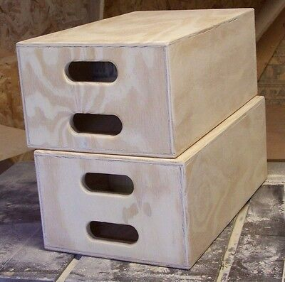 """A Set of 2 NEW Full Apple Boxes 1/2"""" Ply Constr. Photo Cine Grip Studio Posing"""