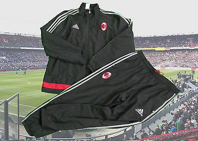 AC Milan 2015-16 track suit jacket trousers size L Adidas