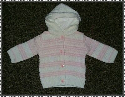 Baby girls george first size hooded cardigan