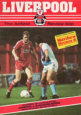 Liverpool v Blackburn Rovers Match Programme