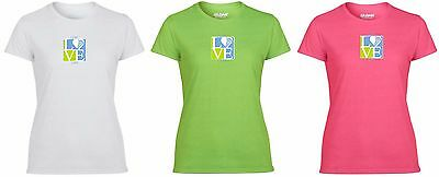 Girls LIVE/LOVE/LAX lacrosse T-Shirt - Available in white, lime, & hot pink