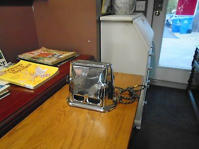 Vintage Electric Chrome Two Slice Toaster