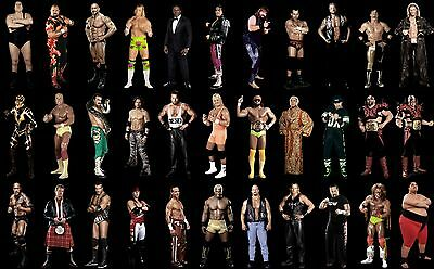 WWF Legends Wrestling Poster Andre The Giant Ric Flair Hologram 8x11 WWF WCW