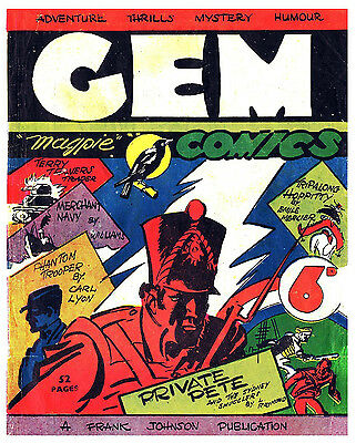 GEM No.Number -  VERY RARE EARLY AUSTRALIAN COMIC Facsimile 1940's 6d -  Comic