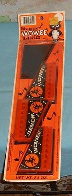 vintage Halloween WOWEE CHEWING GUM WHISTLES package harmonica Glenn Confections