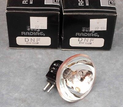 2x DNF SYLVANIA 150W 21V PROJECTOR LAMPS BULBS- NOS, NIB, FREE USA SHIP - $21.99