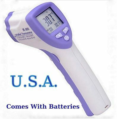 Baby Non-Contact Body Forehead Infrared Digital Laser Temp. & Scan & Adult
