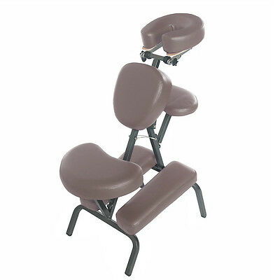 Portable Foldable Steel Upright Massage Chair W/carry Bag - Tattoo/spa - Brown