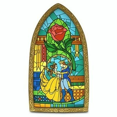 Disney Parks Beauty And The Beast Stained Glass Window Frame New In Box