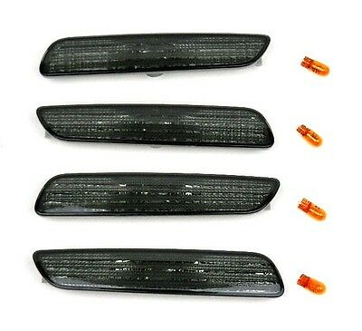 VOLVO V40 S40 2000-2003 SIDE MARKER LIGHTS SET 2 x FRONT 2 x REAR - SMOKED PAIR