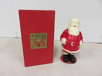 Santa Claus Christmas Candle Tavern Novelty Original Box Socony Vacuum Oil Co