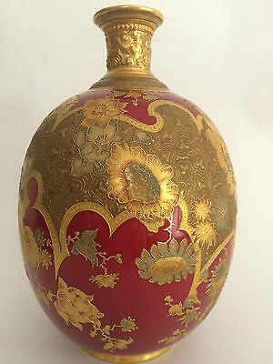 Antique Royal Crown Derby Hand Painted Vase Circa 1890's