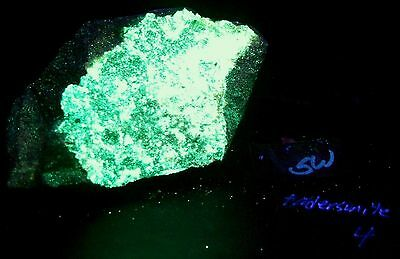 Fluorescent Large Piece of Andersonite for SW & LW Mineral Collection Specimen 4