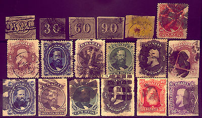 BRAZIL :  COLLECTION of  VERY  OLD & VALUABLE  STAMPS   NO RESERVE