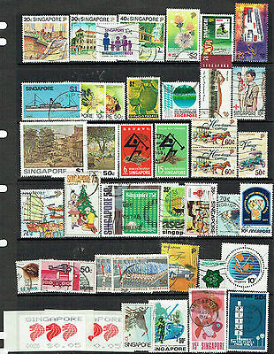 singapore 40 used stamps