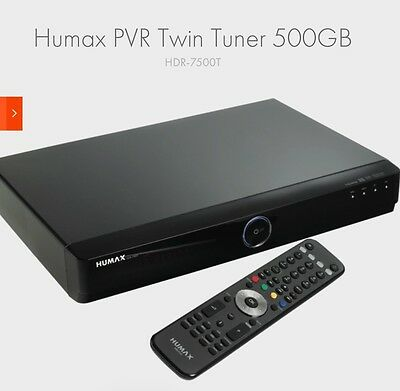 Humax PVR HD 7500T 500gb plus wifi dongle