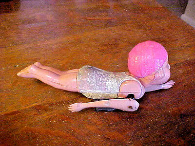 1950's Made in Japan, Celluloid Windup Swimming Bathing Beauty, Works, Original.