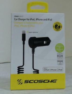 SCOSCHE I2C12 12-Watt (Fast) Car Charger with Lightning Cable