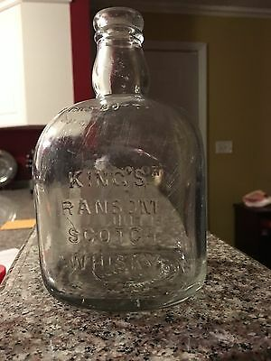 Kings Ransom Scotch Whisky Vintage Bottle