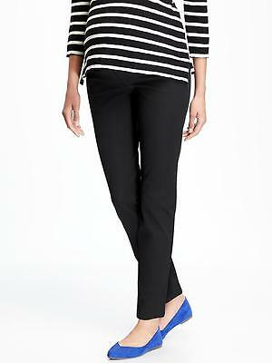 Old Navy Maternity The Pixie Side Panel Ankle Pant-Black -2R