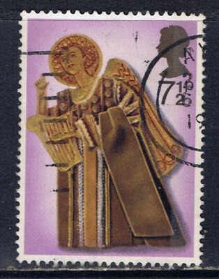 Great Britain #682(1) 1972 7.5 pence CHRISTMAS - ANGEL WITH HARP Used