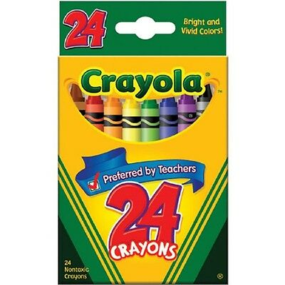 Crayola Washable Crayons 24 Count - 2 Packs, New