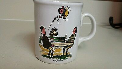 Norman Thelwell Horse Equestrian Coffee Tea Ceramic Mug England Vintage 1967