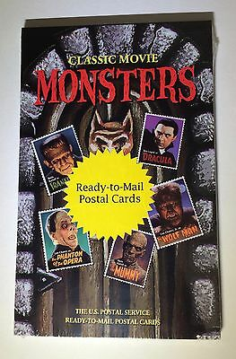 Classic Movie Monsters 20 Stamped Postal Cards Set SEALED UX285-UX289