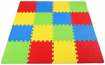 Kids Flooring Exercise Mat Play Puzzle Foam Safety Soft Rug Tiles Carpet Room 4'