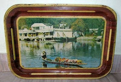 Vintage Old Beautiful Modern deluxe Litho Print Serving Tin Tray