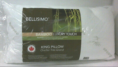 NEW Bellisimo Bamboo Luxury Touch Pillow KING