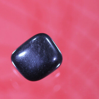 14cts 100% naturalstunning black obsidian tumble 9x13x15 afghanistan gemstone