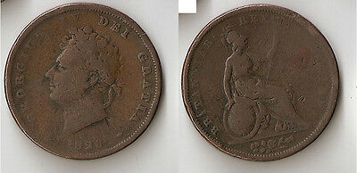 UK (Great Britain) penny 1826 GEORGIUS. IV