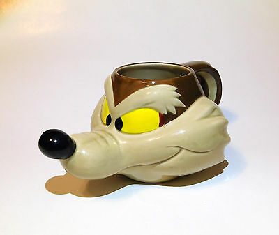 Warner Brothers Looney Tunes Wile E. Coyote Ceramic Mug Applause 1989