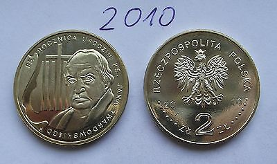 2010 - 2 zlote NG - ks Jan Twardowski - Mint / UNC condition