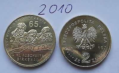 2010 - 2 zlote NG - 65 rocznica Auschwitz - Mint / UNC condition