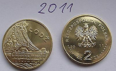 2011 - 2 zlote NG - Lodz - Mint / UNC condition